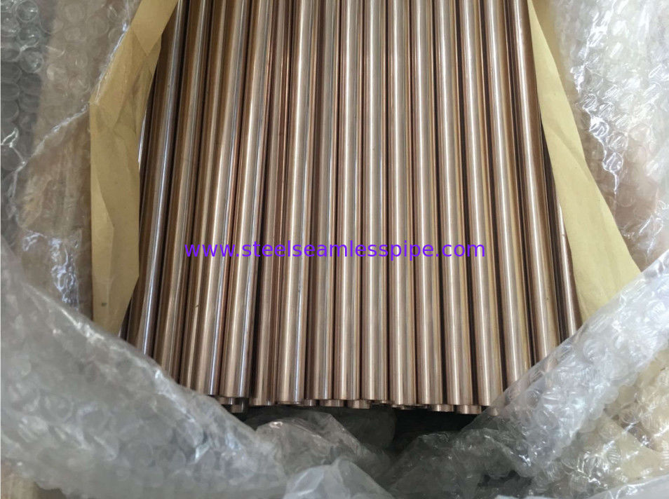 ASTM B111 Copper Alloy Pipe High Strength For Boiler Heat Exchanger Air Condenser